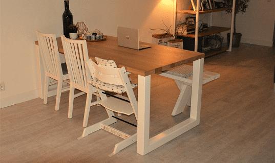 Eikenhouten tafel op maat laten maken for Eettafel op maat laten maken